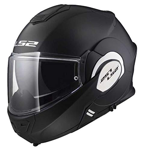 LS2 Valiant Helmet (XXX-Large) (Matte Black)