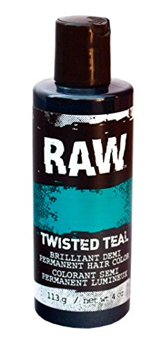 Twisted Teal Hair Color, Demi-Permanent 4 oz by RAW. Veggie-