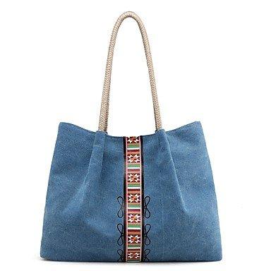 YJIUX Womens moda clásica bolsa Crossbody,azul Beige