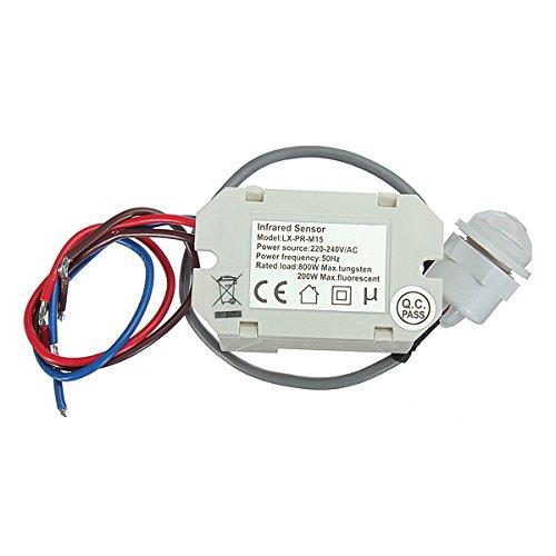 12V DC Mini Detector de movimiento PIR sensor de infrarrojos: Amazon.es: Electrónica