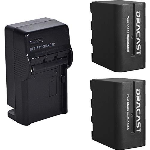 Dracast 2X NP-F 6600mAh バッテリーと充電キット1個 B07PSKK2CP