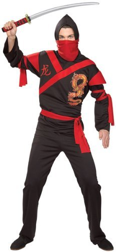 Cheap Halloween Costumes 2016 (Rubie's Costume Co. Men's Dragon Ninja Warrior Costume, As Shown, One Size)