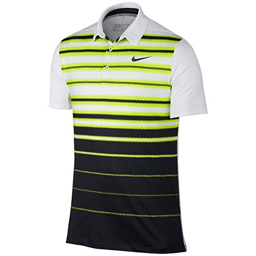 Manches Manches volt Stripe Nike Nike Nike White Mobility Fade Amarillo Polo Anthracite Courtes Homme PZqI1Zw