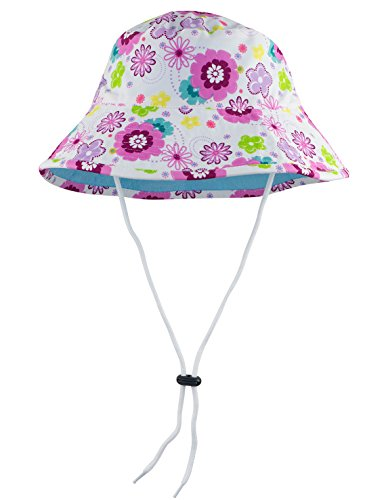- SunBusters Girls Reversible Bucket Hat (UPF 50+), Mallowberry, Medium