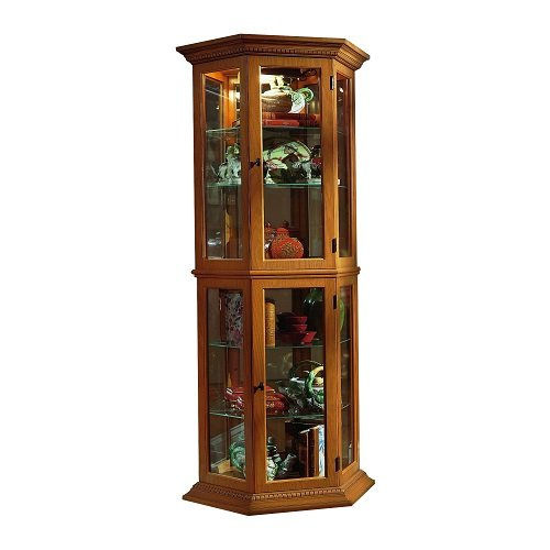 (Pulaski Curio, 25 by 11 by 70-Inch, Medium Brown )