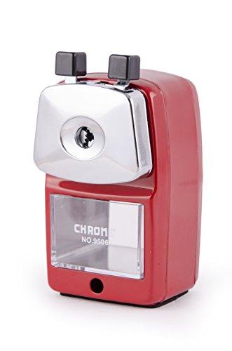 Chrome 9506 - Metal Body Pencil Sharpener (Red)