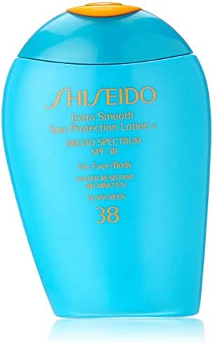 Shiseido Extra Smooth Sun Protection Lotion N' Broad Spectrum SPF 38 for Face/Body for Unisex, 3.3 Ounce