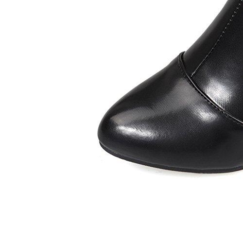 N Filles amp; Métal A En Imités Bottes Confort Mule Noir Ornement Cuir EZ5Hxqwd