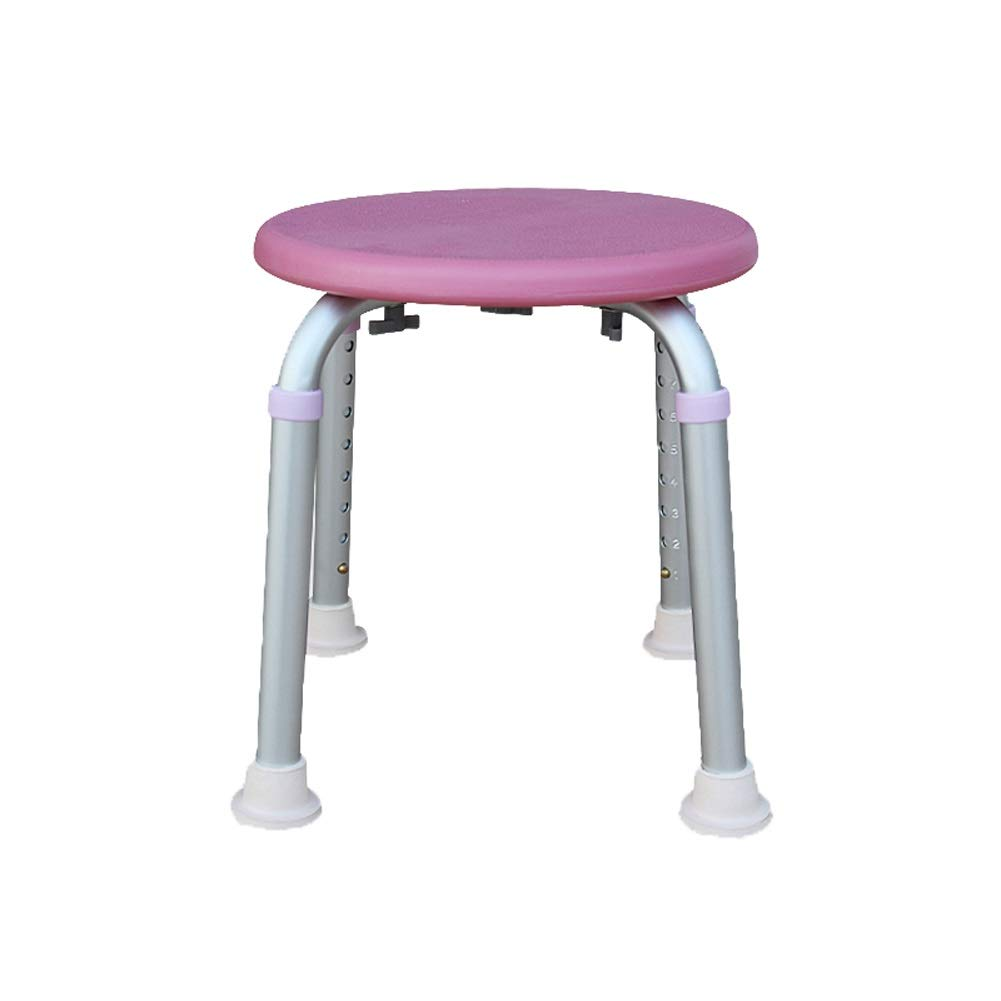 BEAUTY--shower stool Lightweight Aluminum Alloy The Elderly Bath Chair,Pregnant Woman Bathroom Aid Anti-Slip Chair,Height Ajustable
