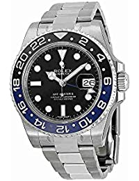 GMT Master II Black Dial Stainless Steel Mens Watch 116710 BLNR