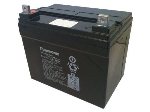 Panasonic LC-R1233P Black Large 12V 33Ah VRLA Battery with Nut and Bolt Terminal (Panasonic Sla Batteries)