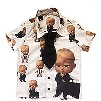 Camisa Infantil Social Festa Aniversário Poderoso Chefinho