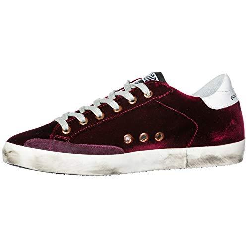 Scarpe Goose Nuove Superstar Donna Bordeaux Sneakers Golden Originale wPdnIaxqP5