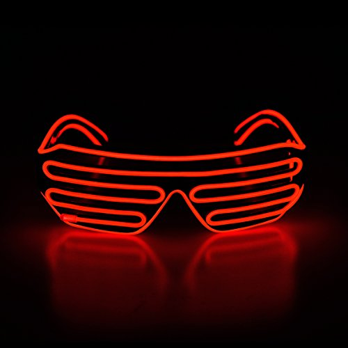 Aquat Glow Shutter Rave Neon LED Glasses El