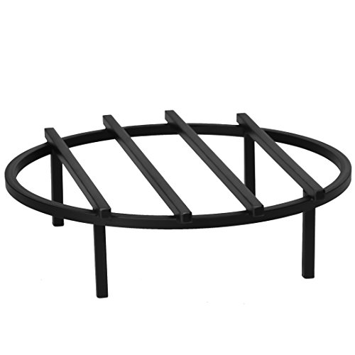 SteelFreak Classic Round Fire Pit Grate, 18 Inch Diameter - Made in The USA (18 Pit Fire)