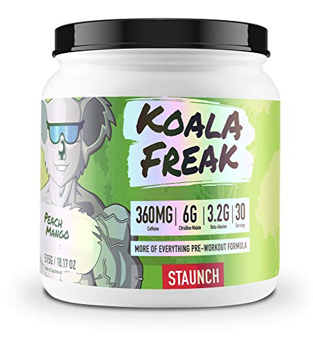 Staunch Koala Freak Pre-Workout Peach Mango