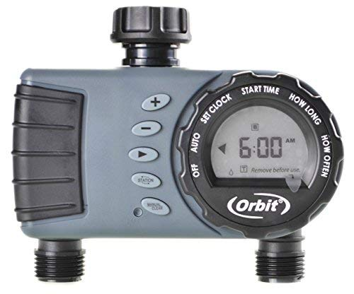 Orbit Digital Hose Sprinkler Irrigation Timer for Vacation Lawn, Plant, and Garden Watering (2 Valve)
