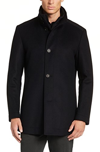 UPC 627918046946, Hugo Boss Coxtan 4 Men's Wool Cashmere Coat (Dark Blue, 38R)