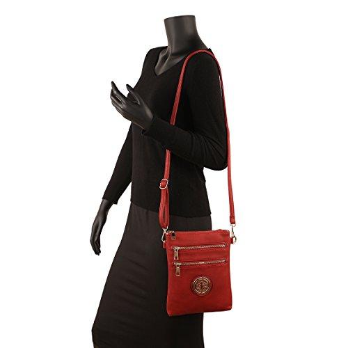 Crossbody Women��s Flat Gold Red Jshop Bag 8Eqwx5d4d