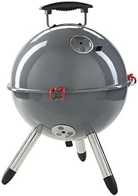 Mit T/ÜV und GS mit Deckel Grillrost BBQ Tragbarer Picknick Mini Kugelgrill in Weiss Tragegriff