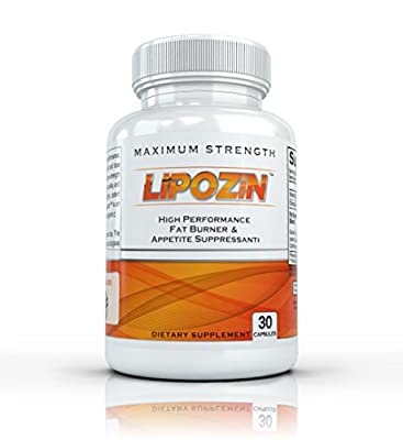 LIPOZIN with Hoodia - High Performance Fat Burning, Diet Pills. Best Appetite Suppressing Weight Loss Supplement - 30 Capsules