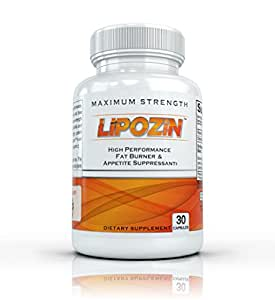 LIPOZIN - High Performance Weight Loss Supplement. Best Fat Burning, Appetite Suppressing Diet Pill. Slim Down Quickly and Lose Weight Fast