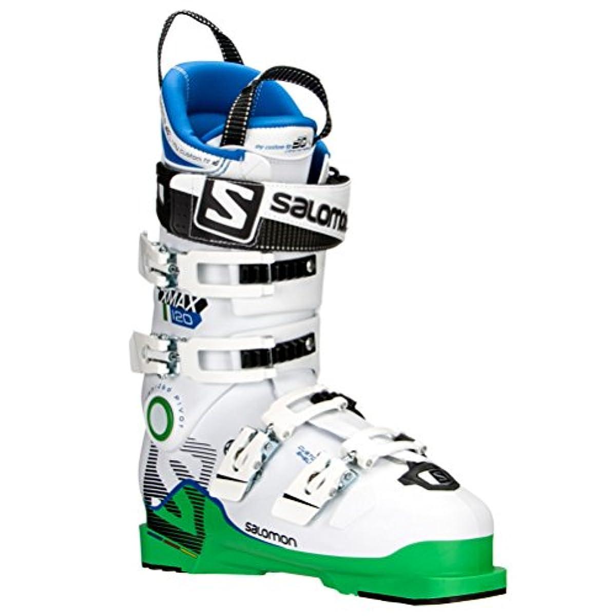 [해외] SALOMON살로몬X MAX 120 스키화 어른용 레이서 엑스퍼트용 L37812800 GREENWHITE