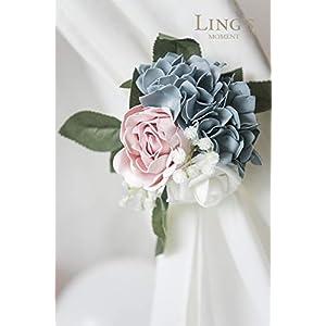 Ling's moment Vintage Artificial Hydrangea Flowers 9pcs for Wedding Bouquets Centerpieces Arrangements DIY Holiday Party Home Décor 3