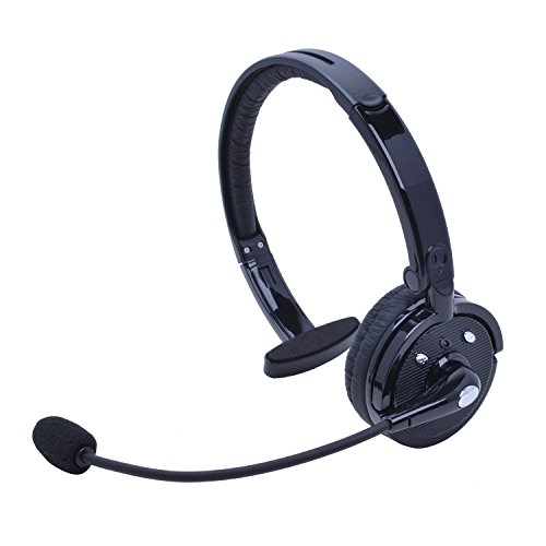 (Wireless Headset with Mic,Willful M10B Wireless Headphones Hands Free Phone Headset Noise Cancelling Headset Over Head Multipoint for iPhone Android Cell Phone Office Driving Truck Driver Call Center)