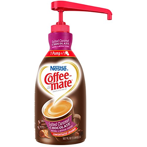 Nestle Coffee-mate Coffee Creamer, Salted Caramel Chocolate, liquid pump bottle, 50.7 Fl. Oz (Pack of -