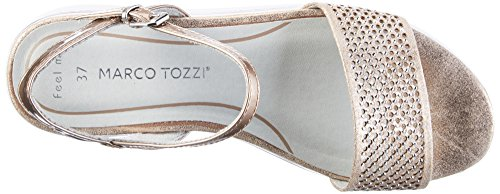 Marco Tozzi 28721, Sandalias con Cuña para Mujer Rosa (Rose Metl.comb 532)