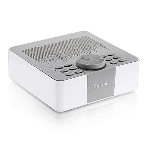 Coidak White Noise Sound Machine for Sleeping, Portable Sleep Sound Machine with Relaxing Soothing Nature Sounds for Baby, Home, Office, Kids Room or Nursery, USB Powered and Timer