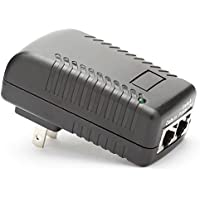 iCreatin Wall Plug POE Injector With 48v Power Supply 802.3af for Most Cisco / Polycom / Aastra Phones and More