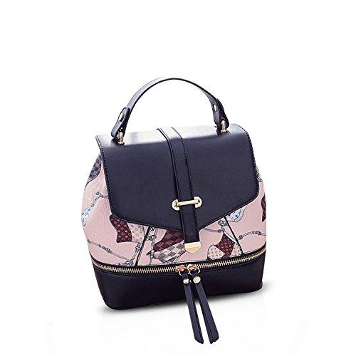 Women Fashion Leather Tassel Backpack Travel Shoulder Bag White - 6