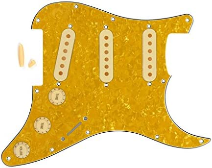 4Ply Guitar Pickguard For Stratocaster Strat Standard Yellow