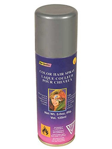 Costumes Hair Color (Rubie's Costume Co Silver Color Hairspray Costume 3 ounce)