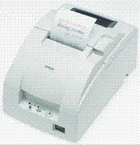 Epson Tm U220 Impact Printer - EPSON, TM-U220D, DOT MATRIX RECEIPT PRINTER, USB, EPSON COOL WHITE, NO AUTOCUTTE
