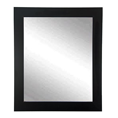 "BrandtWorks Wall Mirror, 32"" x 50"", Matte Black"