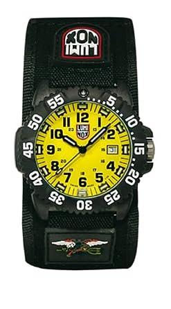 Luminox 3955 - Reloj analógico de caballero de cuarzo con correa textil negra - sumergible a 200 metros: Amazon.es: Relojes