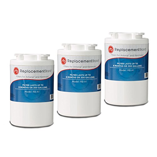 - ReplacementBrand A1-3PK Amana 12527304 Comparable Refrigerator Water Filter (Pack of 3)
