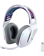 Logitech G733 LIGHTSPEED Wireless Gaming Headset met verende hoofdband, LIGHTSYNC RGB, Blue VO!CE-microfoontechnologie en PRO-G-audiodrivers - WHITE