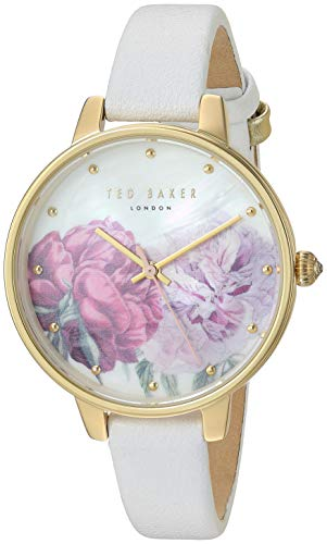 Ted Baker Women's Kate White Strap Floral Dial Watch TE50005028