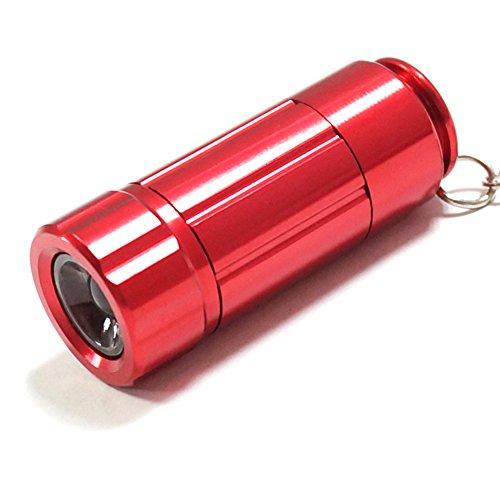 Led Aluminum Torch (KENO Mini USB Rechargeable LED Keychain Flashlight Battery Powered Flashlight Key Chain Flashlights Small Flashlight Torch Light Aluminum LED Keychain Flashlight(1 pack,Red))