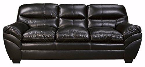 Ashley Furniture Signature Design - Tassler DuraBlend Sofa - Faux Leather Upholstered Couch - Black (Design Black Leather Sofa)