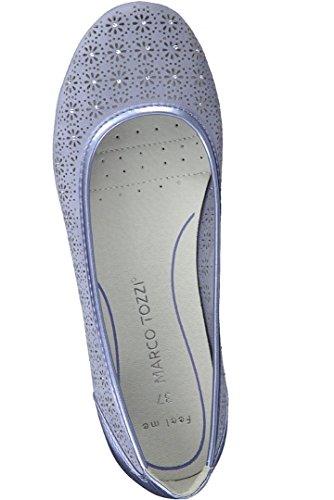Marco Women's Tozzi Blue Azure Ballet Flats xTYnTgwr0q