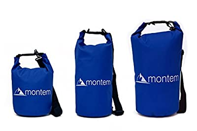 Montem Premium Waterproof Bag / Roll Top Dry Bag - Perfect for Kayaking / Boating / Canoeing / Fishing / Rafting / Swimming / Camping / Snowboarding
