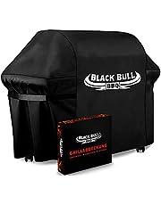 Black Bull BBQ - Uniwersalny pokrowiec na grilla [122 cm x 61 cm x 147 cm] – innowacyjny pokrowiec na grilla – odporny na warunki atmosferyczne i wodoszczelny [100%]