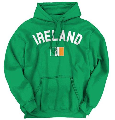 Brisco Brands Ireland Flag World Cup Soccer Irish National Flag Pride Hoodie