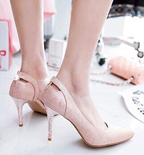 Idifu Sexy Strass Donna Tacchi A Spillo Alti A Punta Slip On D-orsay Pumps Shoes Rosa