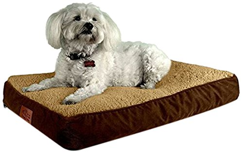 og Bed with Removable Cover and Waterproof Liner. Stuffed To 4 Inches High with Memory Foam Pieces To Accommodate the Natural Digging Instinct. For Medium Dogs 15 to 30 Pounds ()